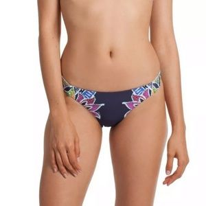 Trina Turk Lotus Batik Reversible Bikini Bottom